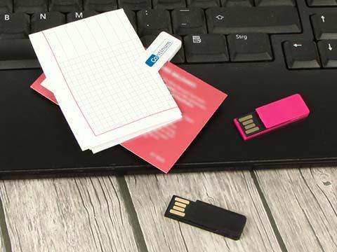Kleiner Clip USB-Stick mit Klammer zum anheften