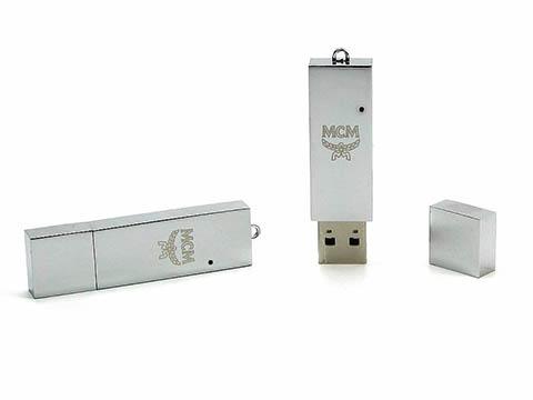 Schlichter Hochglanz Metall USB-Stick mit Gravur