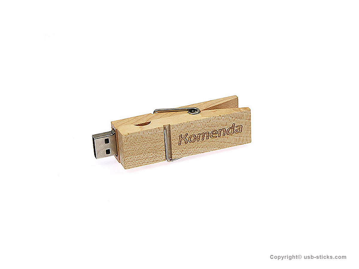 usb stick w scheklammer aus holz. Black Bedroom Furniture Sets. Home Design Ideas