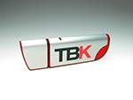TBK Alu USB-Stick Rot Transparent