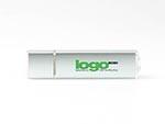 Alu USB Stick schmal schlicht Logoaufdruck