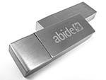 Metall USB-Stick mit Gravur Optik gebürstetes Aluminium