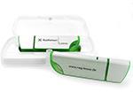 USB Stick aus Aluminium mit Geschenkbox