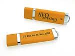 günstiger USB Stick mit Logodruck aus Chrom mit Kunststoff
