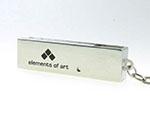 Schwarzer einfarbiger Druck auf Metall- Drehbügel USB-Stick