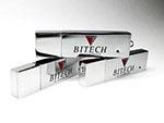 Metall USB-Stick hochglänzend mit Logodruck zweifarbig