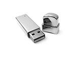 Chromter spiegelnder USB-Stick aus Metall