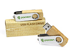 pacoon Werbeartikel swing USB-Stick aus Holz
