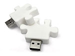 Werbeartikel Puzzlestück mit USB-Stick