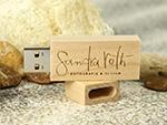 Fotografie Design Holz USB-Stick mit Logo Prägung