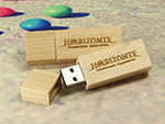 Horizonte USB-Stick aus Holz mit Logo gravur