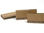 Minibarfilm Wellpappe USB-stick mit Logo bedruckt