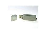 Metall USB-Stick mit Deckel schlicht matte Oberfläche mit Logodruck als Kundengeschenk