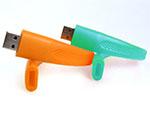 Armband aus Silikon mit USB-Stick in wunschfarbe