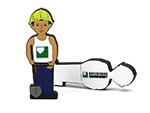 Bauwirtschaft USB-Stick Männchen Figur Bauarbeiter
