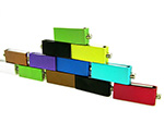 Bunte Mini USB-Sticks in vielen Fraben für Logo Druck und Gravur