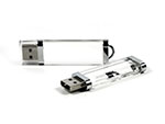 Durchsichtiger Crystal USB-Stick