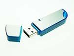 eleganter USB-Stick aus Aluminium und Kunststoff zum bedrucken und gravieren