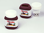 Ferrero Nutella Brotaufstrich in Sonderform mit Digitaldruck als USB-Stick