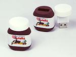 Ferrero Nutella Brotaufstrich in Sonderform mit Digitaldruck als USB-Stick