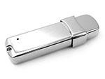 Glänzender hochwertiger USB-Stick aus Metall