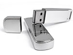 Hochertiger Werbeartikel USB-Stick aus Metall mit Logo