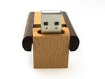 Holz USB Stick mit Logo kompostierbar