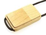Holz USB Stick mit Logo und Umhängebändchen für Kongresse