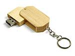 Drehbarer Holz USB-Stick mit Schlüsselring