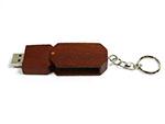 Holz USB-Stick mit Schlüsselring und Logodruck