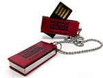 ingram Micro Mini USB-Stick in Rot mit einfarbigen Logodruck