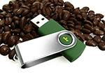 Jacobs Swing USB Stick Kaffee mit Bügel in Wunschfarbe