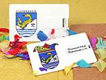 Karneval Club tiefenbach USB-Stick Karte in der Form einer vitienkarte beidseitig bedruckt