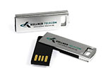 Keller Telecom Nano Mini USB-Stick mit zweifarbigen Logodruck