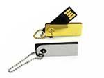 Kleiner leicher Mini USB-Stick aus Alu und Gold