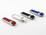Leder USB-Stick in braun weiß scharz und blau