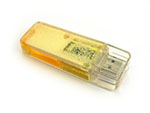 Flüssigkeit Liquid USB Stick aus transparentem Kunststoff mit Logo