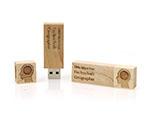 LMU München geographie USB-Stick aus Holz mit Logo