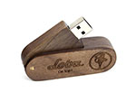 Loba Holz USB-Stick zum drehen mit Graur