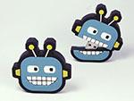 Lustiger comic Roboter Kopf zum auseinanderziehen mit USB-Stick in Wunschform