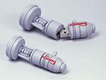 Mechanisches Bauteil Kundenprodukt Maschienenbau USB-Stick mit Logo