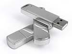 Metall USB-Stick mit verspiegelter Oberfläche zum gravieren und bedrucken