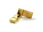 Metall USB Stick in gold mit Gravur des Logos für Reseller