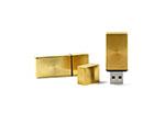Metall USB Stick goldig mit Gravur oder Logoprint