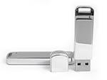 Metall Werbeartikel USB-Stick mit verspiegelter Oberfläche zum bedrucken mit Logo