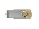 Metall.01 USB-Stick aus Holz mit Bügel zum drehen
