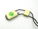 Proebstl Holz USB Stick hellbraun mit einfarbigen Logodruck