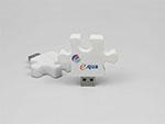 USB-Stick als Puzzle Stück mit Logo bedruckt