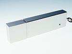 Rechteckiger Werbeartikel USB-Stick mit verspiegelter Oberfläche
