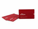s oliver pressebilder auf USB-Stick als visitenkarte Kreditkarte vollflächig mit invertiert Logo bedruckt